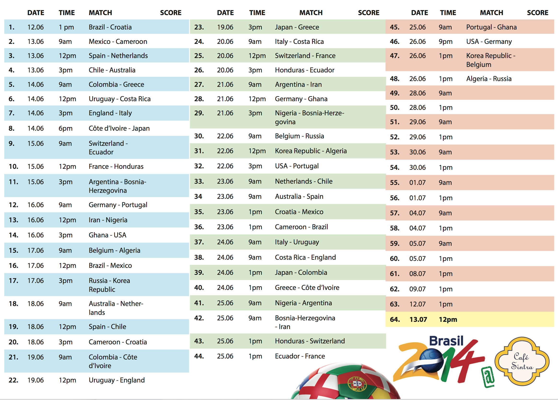 WorldCupBrazil2014-schedule